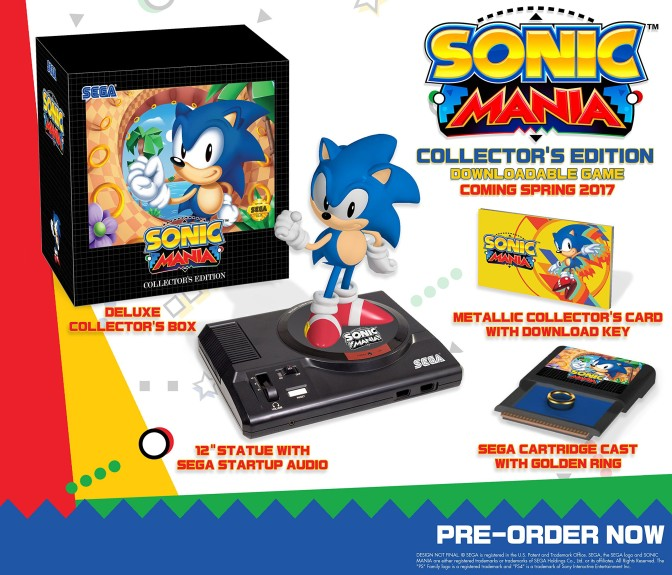 Sonic Mania Collector's Edition Looks Awesome for A Digitally Released Game