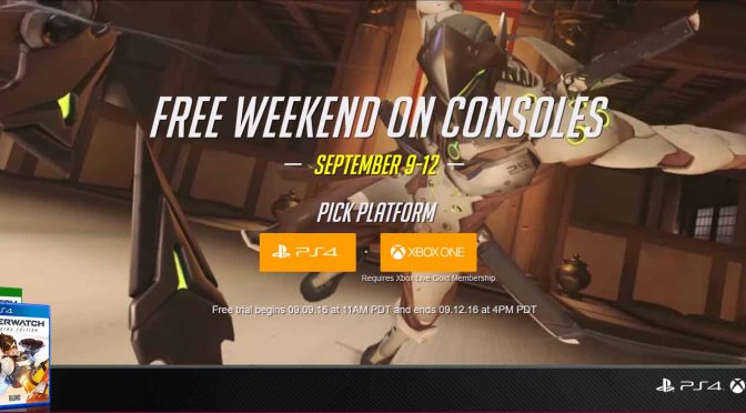 Play Overwatch for Free this Weekend on PS4 and Xbox One