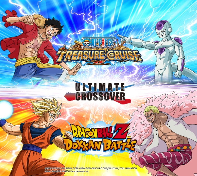 The ULTIMATE CROSSOVER event for One Piece Treasure Cruise and Dragon Ball Z Dokkan Battle