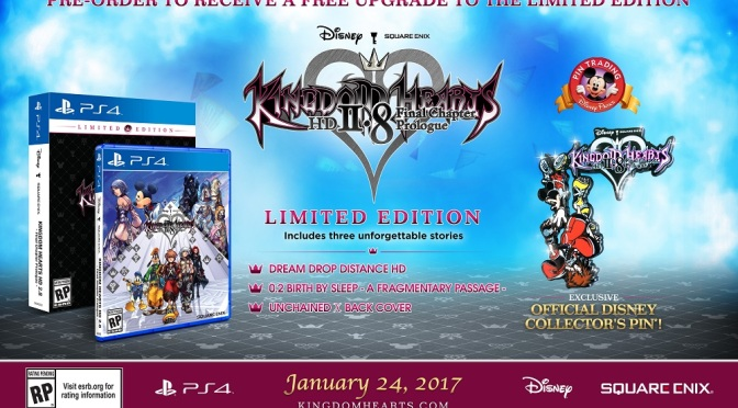KINGDOM HEARTS HD 2.8 Final Chapter Prologue LIMITED EDITION AVAILABLE FOR PRE-ORDER