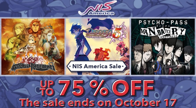 Publisher NIS America is having a Sale on the Playstation Store