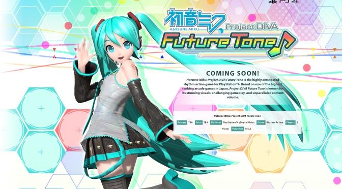 Hatsune Miku: Project Diva Future Tone is coming West