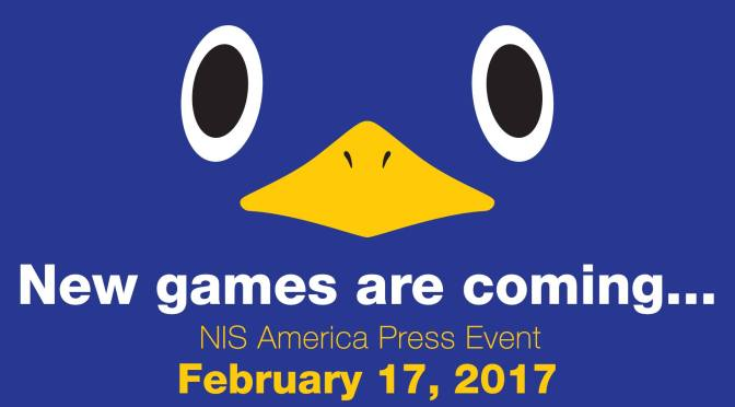 NIS America Press Event is happening tomorrow