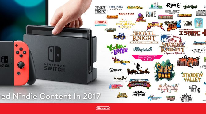 Nintendo has announced 64 Indie Games coming to the Switch in 2017