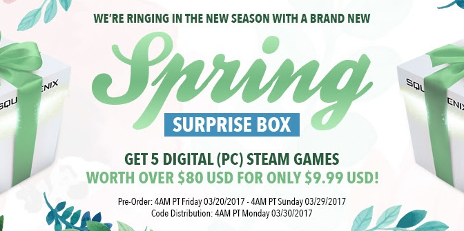 Square Enix Surprise Box is back for the Spring, $9.99 for 5 Steam Titles