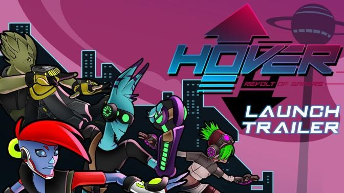 Jet Set Radio Nostalgia is written all over the Hover: Revolt of Gamer Launch Trailer