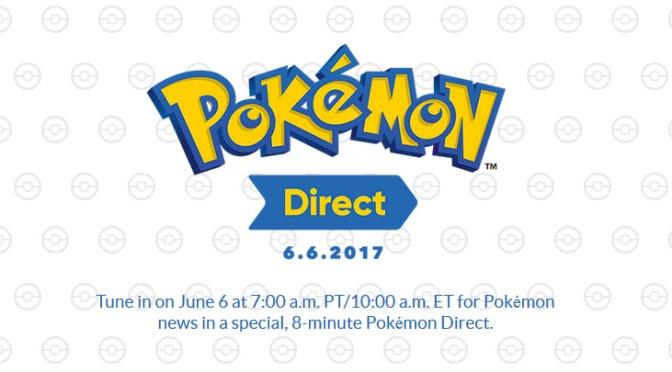 Pokemon Nintendo Direct is set for June 6