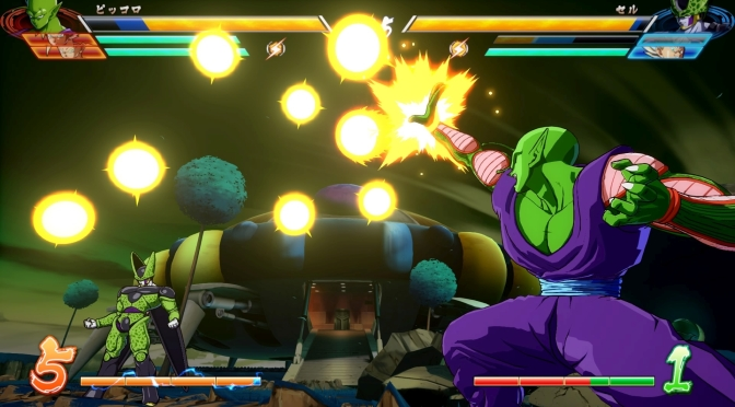 Piccolo, Krillin, and online battle details for Dragon Ball Fighter Z