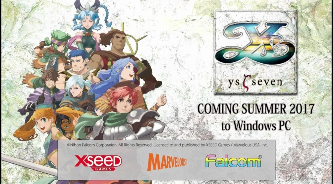 "PSP Classic ""Ys Seven"" is coming to PC"