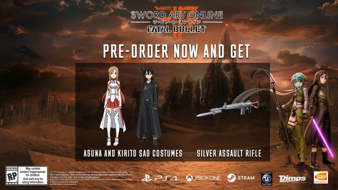 Sword Art Online: Fatal Bullet release date and pre-order bonus announced