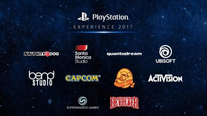 """Playstation Experience 2017 """"near final"""" list of exhibitors and playable titles"""