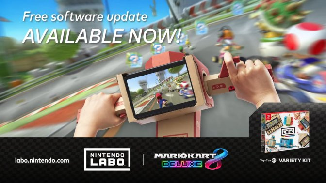 Mario Kart 8 Deluxe is now compatible with the  Nintendo Labo, and Creators Contest